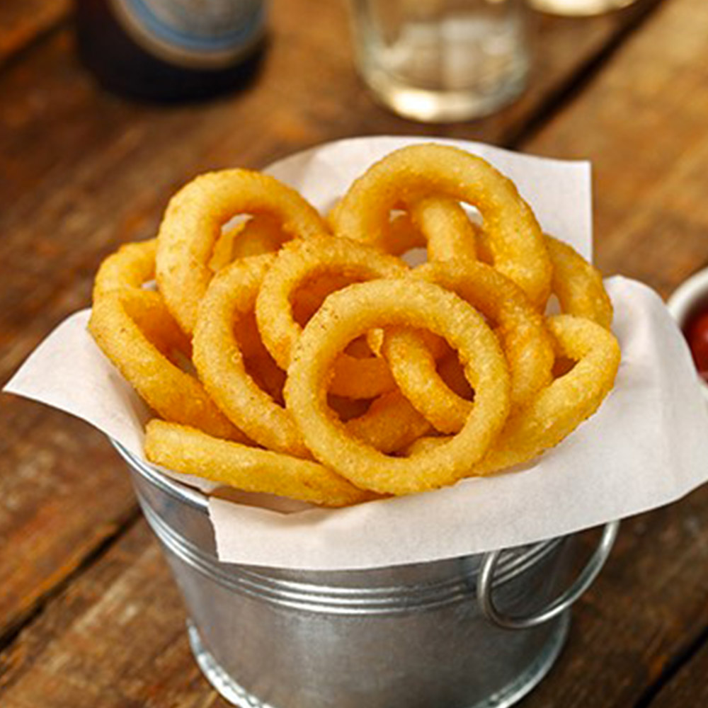 BEER BATTERED ONION RINGS Thick